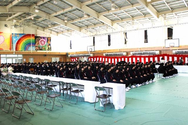 軽米中学校門出式